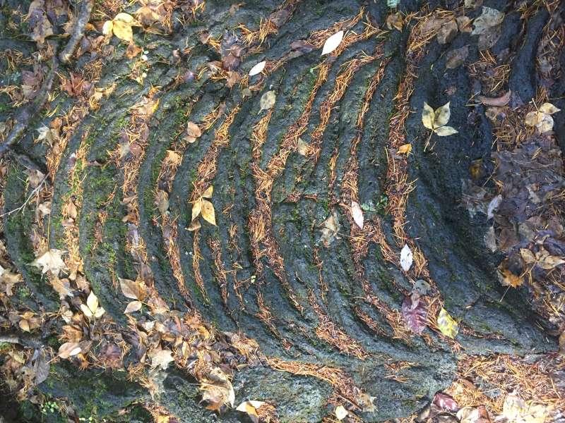 Lava looks like ripples