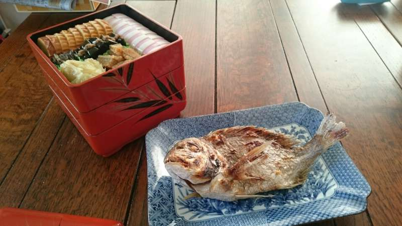 Grilled Sea Bream is always cooked at happy occations such as new year.