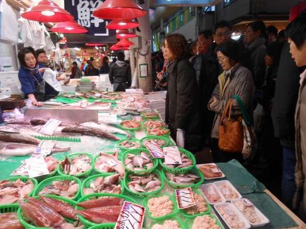 Omicho market fishmonger
