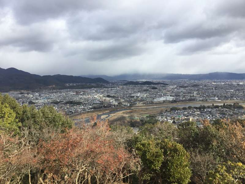 From the top of Mt.Iwata monkey park, you can see overview of Kyoto city.