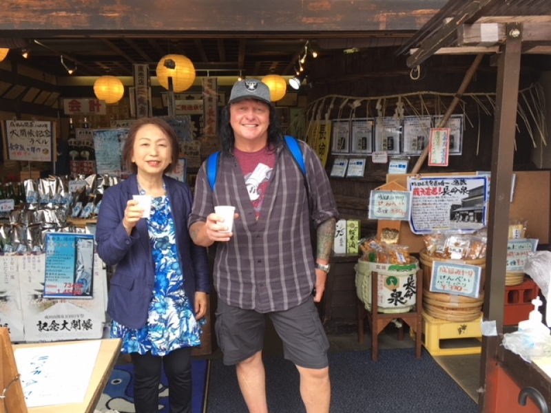 A friendly guest from U.S.A. at Narita town, June 2018