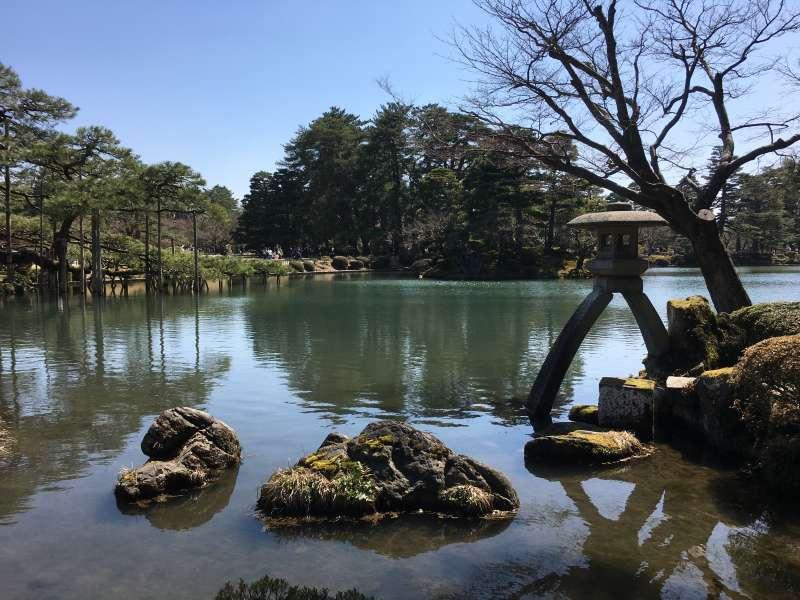Kasumiga-ike Pond in Kenrokuen Garden.