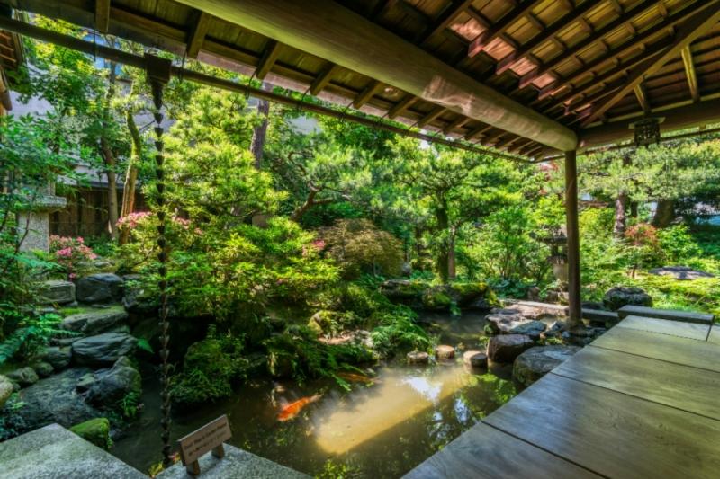 Garden(Sit and View Type) in Nomura samurai house.