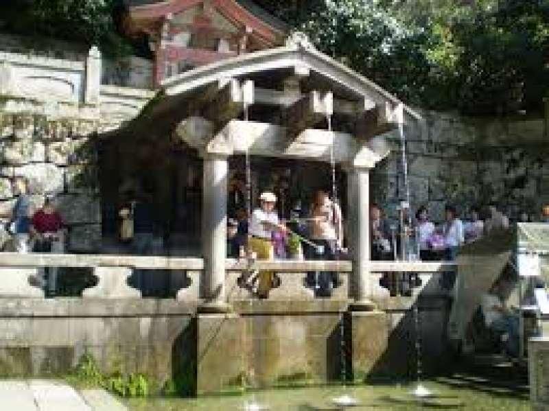 Otowa water-fall at Kiyomizu Temple