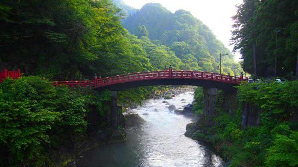 Shinkyo, means God Bridge, or Snake Bridge you can see beautiful nature of Nikko with the stream of the Daiya River