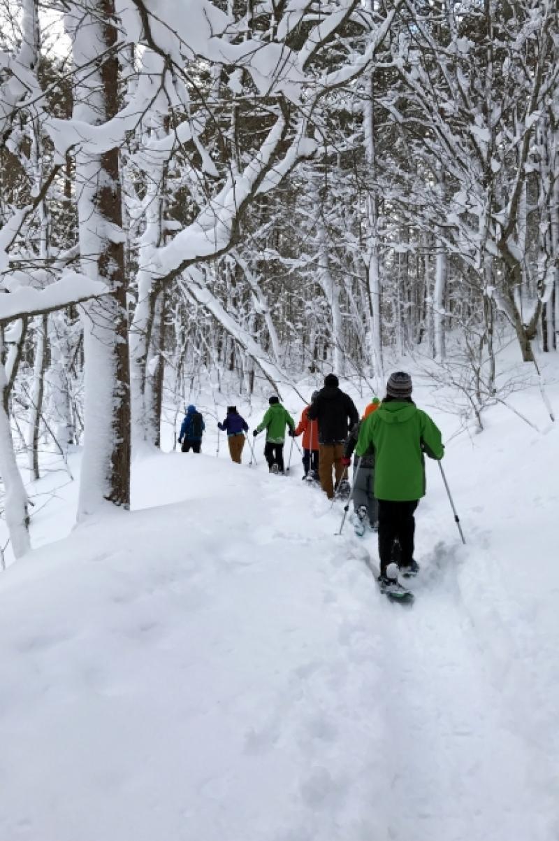 Snow shoe Hiking,Urabandai