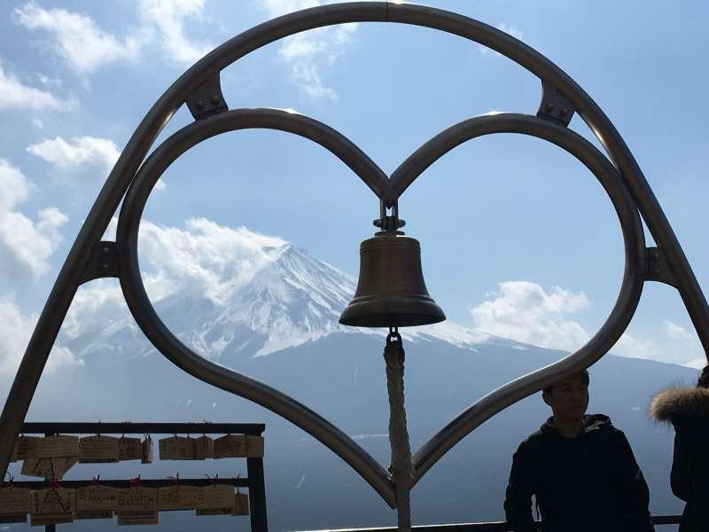 Mt. Fuji from the top station of Mt. Kachikachi ropeway