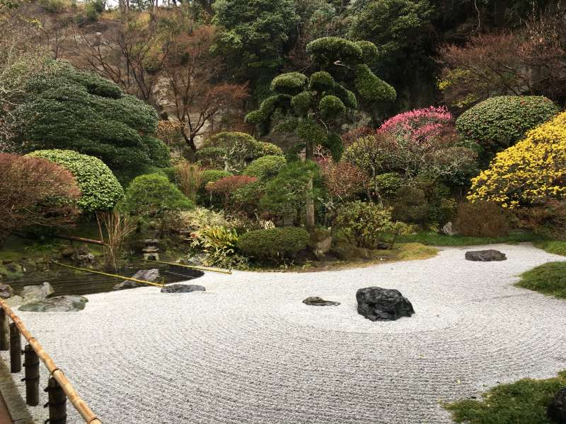 Japanese Garden in Hokoku-ji Temple
