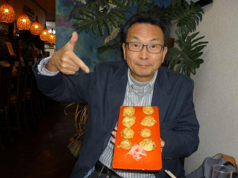 Akashiyaki, ball shaped octopus omelette