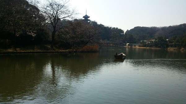 El jardín San Kei-en con el estanque