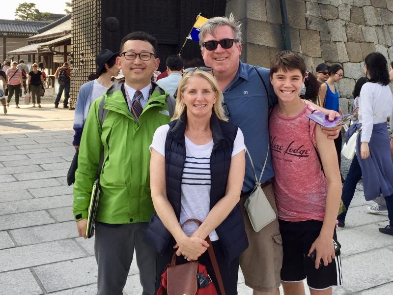 American group at Nijo-castle.