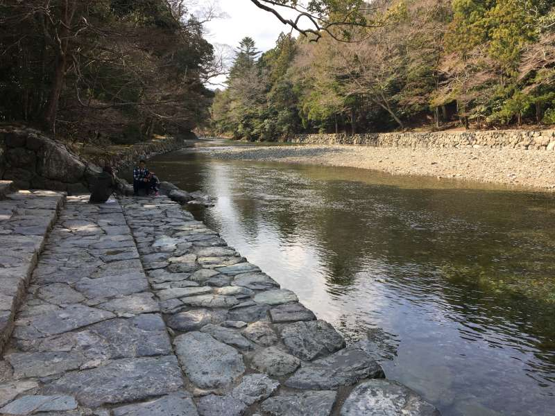 The bank of Isuzu River for Purification ritual