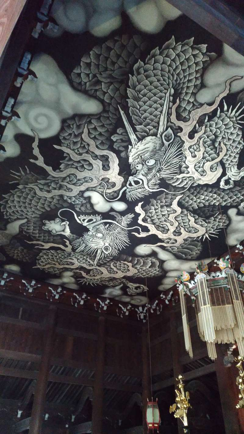 DRAGONS PAINTED ON THE CEILING OF THE KENNIN-JI TEMPLE