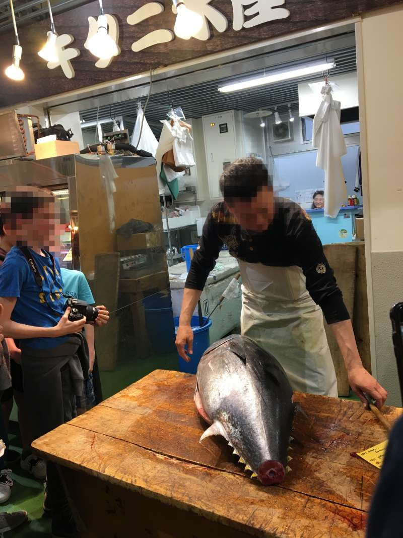 You can enjoy a tuna cutting show, if you are lucky.