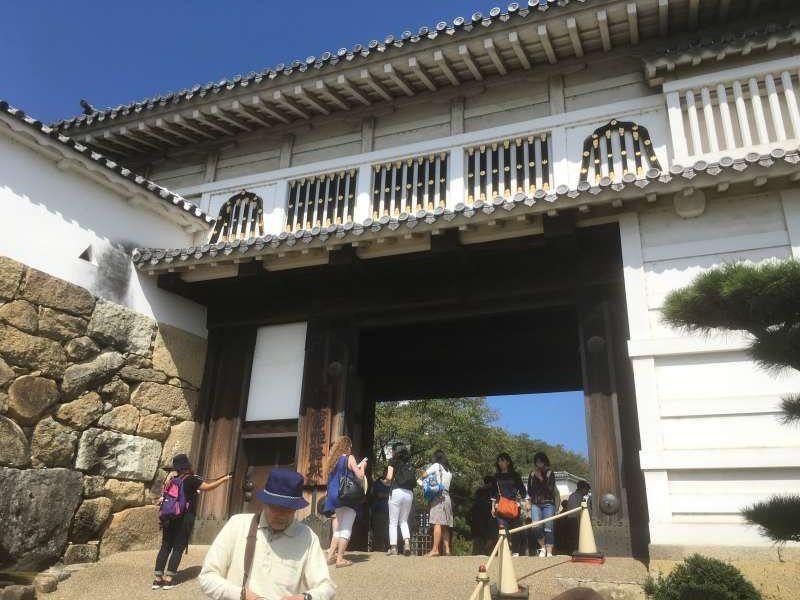 Original architectural structure of Hishi-no-mon gate of Himeji Castle.