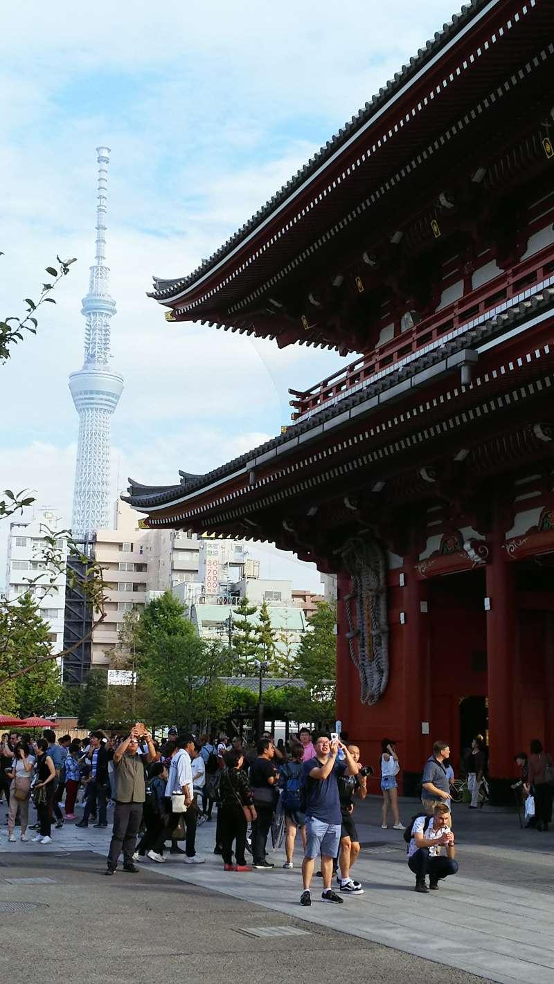 Skytree Tower and Sensoji temple