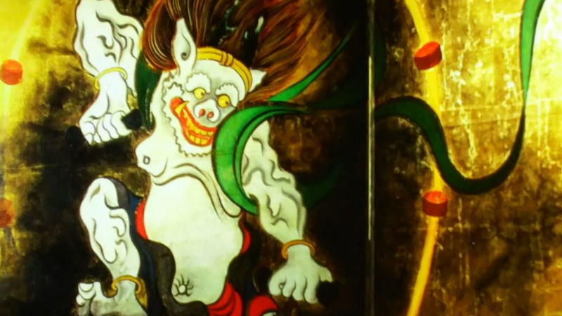 God of Wind from famous folding screen,  VR theater in TNM(Tokyo National Museum)
