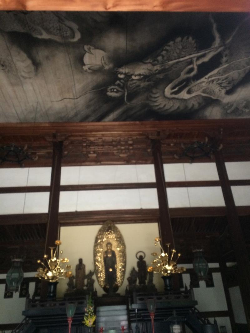 Tohfuku-ji Temple : A dragon is on the ceiling in the Buddha Hall.