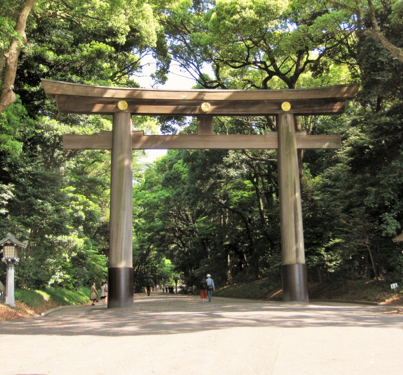 Meiji Jingu - Shinto shrine: Entrance Torii gate