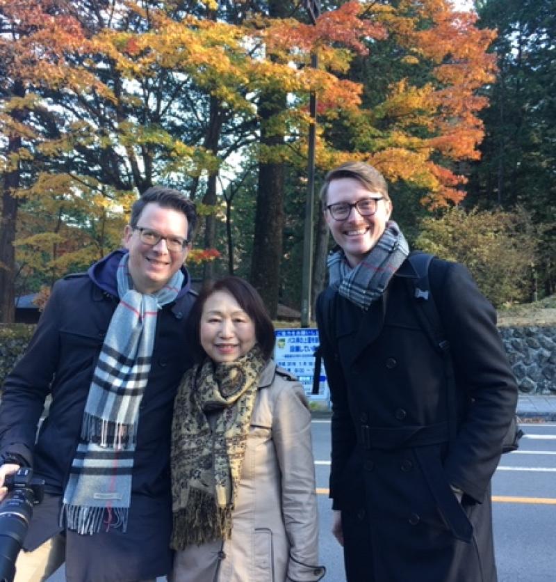 Friendly guests from Germany, at Tamozawa Imperial Villa, Nov. 2018