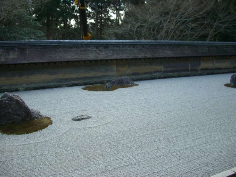 Ryoanji temple.  I'd like to talk about the mystery of the Zen garden.