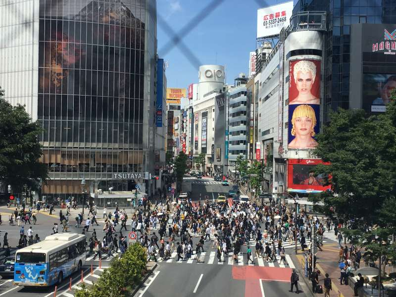 One of the world busiest scramble crossing in Shibuya. Let's cross it!