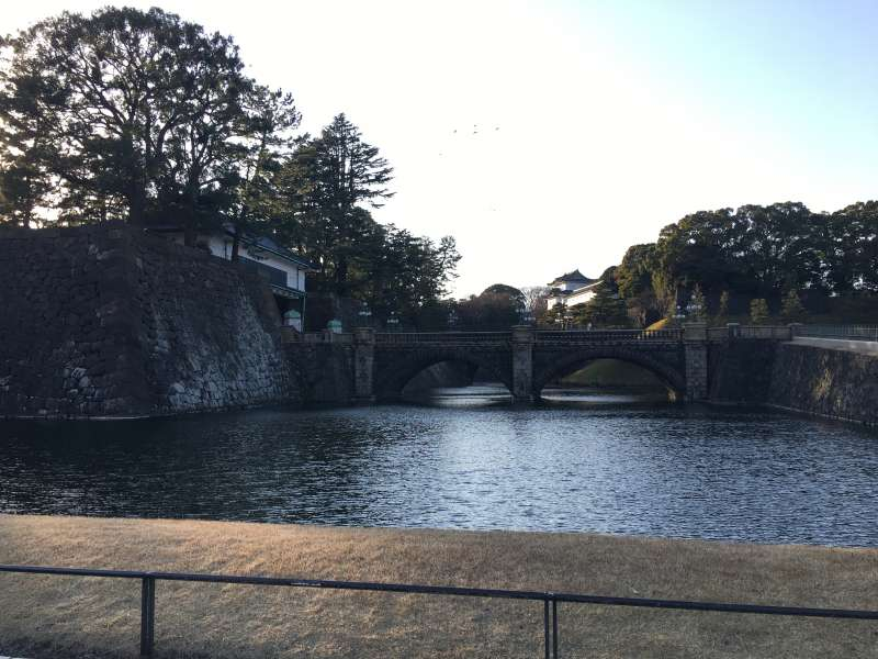 The double bridge at the Imperial Palace.