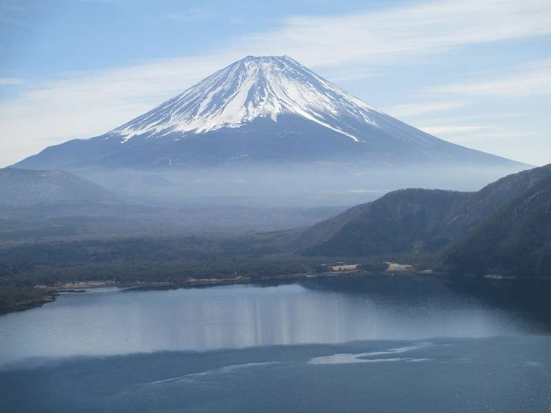 Mt.Fuji from Lake Motosu (depicted in Japanese 1,000 yen note)