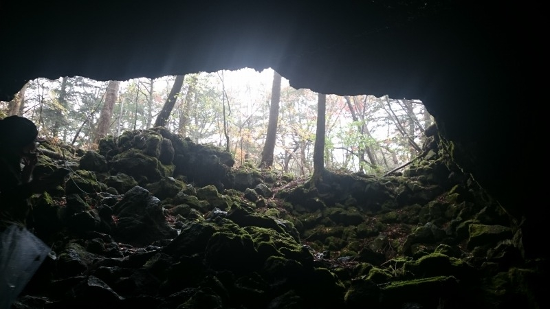 From the inside of Ryugu Cave