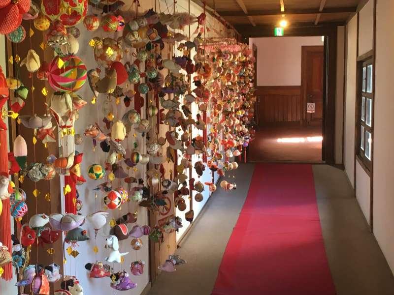 Sagemon display In Yanagawa, in additon to Hina dolls, colorful