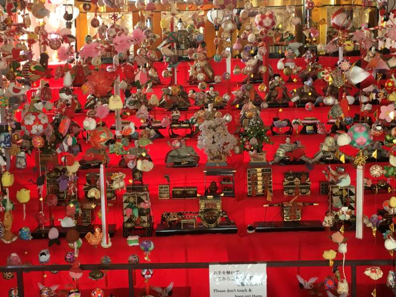 Hina dolls In Japan, Hina dolls are displayed by the families with girls to pray for safe growth of their children.