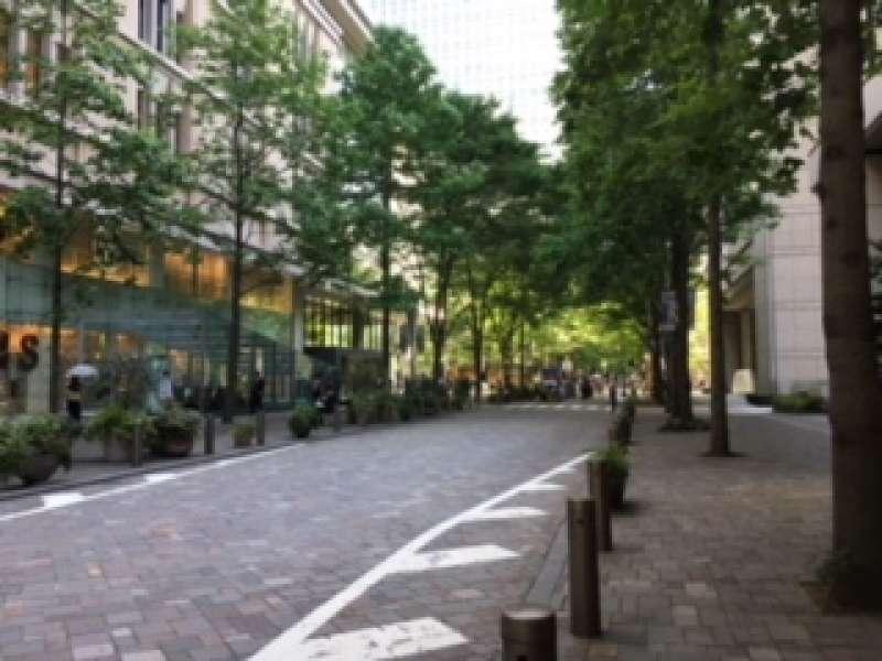 You can enjoy a sense of liberation by exploring spacious Marunouchi Nakadori lined with stylish shops.