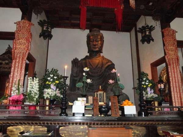 Asuka Daibutsu at Asuka Temple