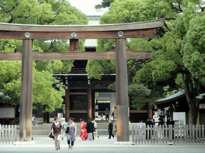 MeijiJingu Shintoism Shrine.