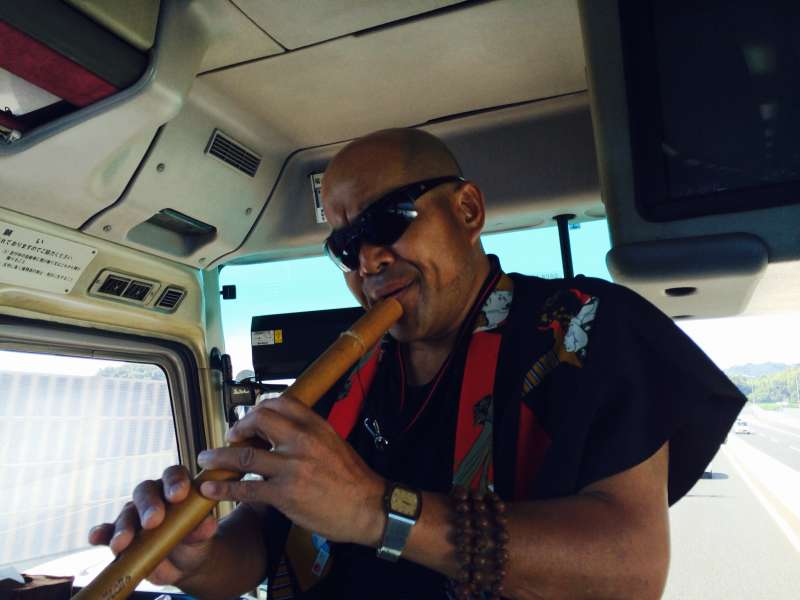 Yuji, the traditional bamboo flute performer