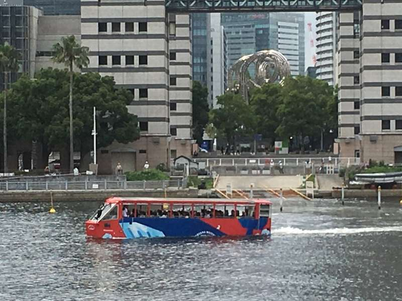 Enjoy Yokohama from both on land and water if you want to.