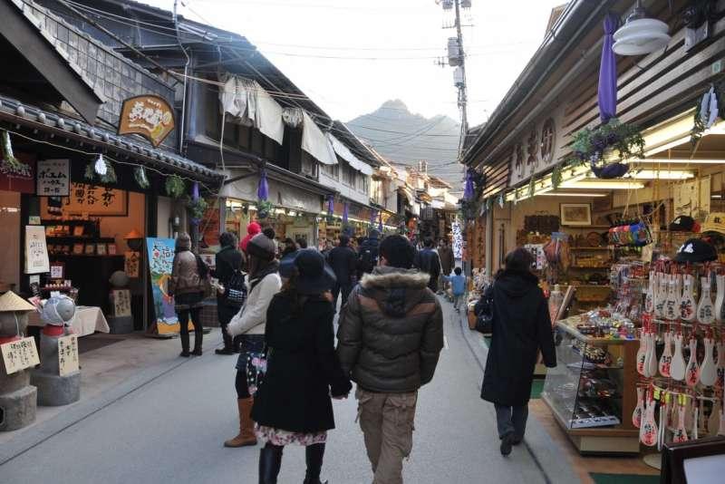 Omotesandou path in Miyajima Island