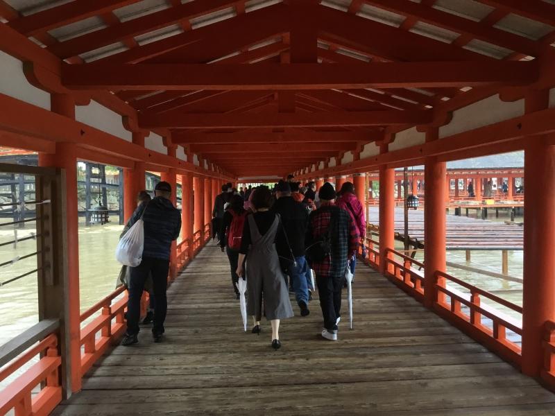 Inside of Itsukushima shrine