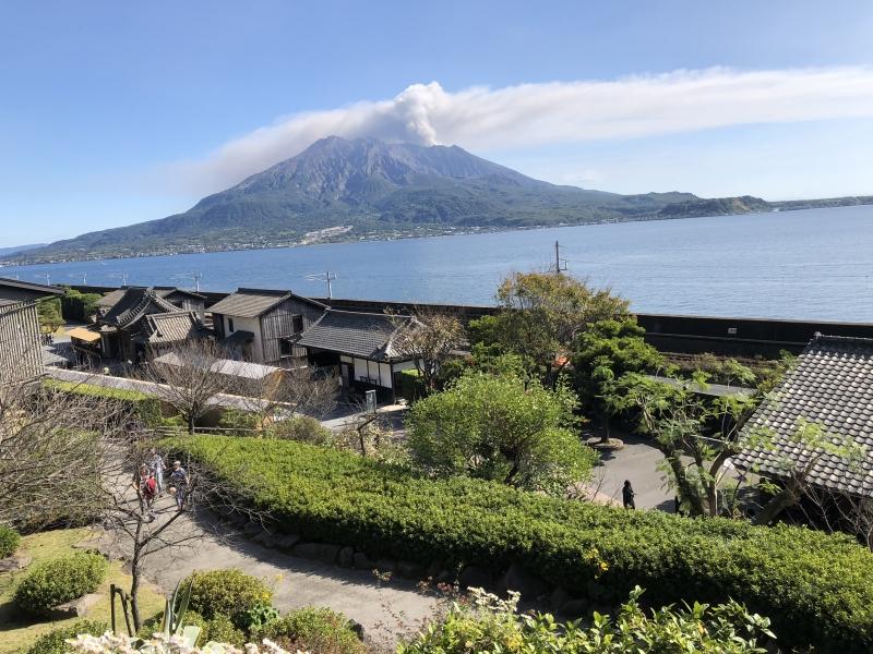 My.Sakurajima from  Senganen Japanese Garden