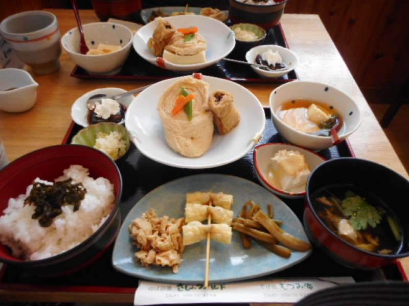 Yuba (Tofu skin) is one of the local specialities of Nikko