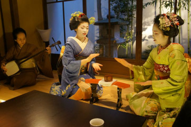 They'll show you how to play geisha drinking game ... !