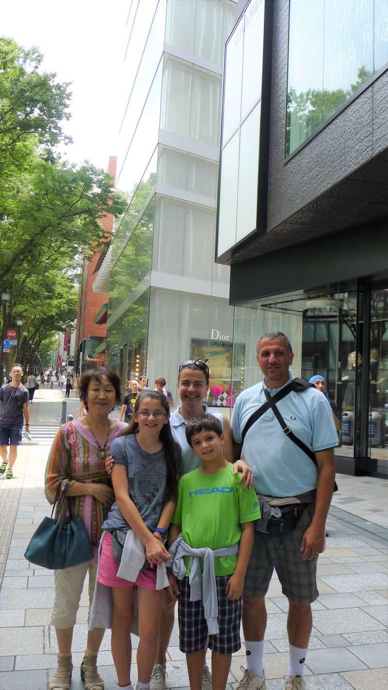 Omotesando is Tokyo's high-end fashion district.