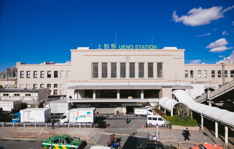 Ueno station looked very classic