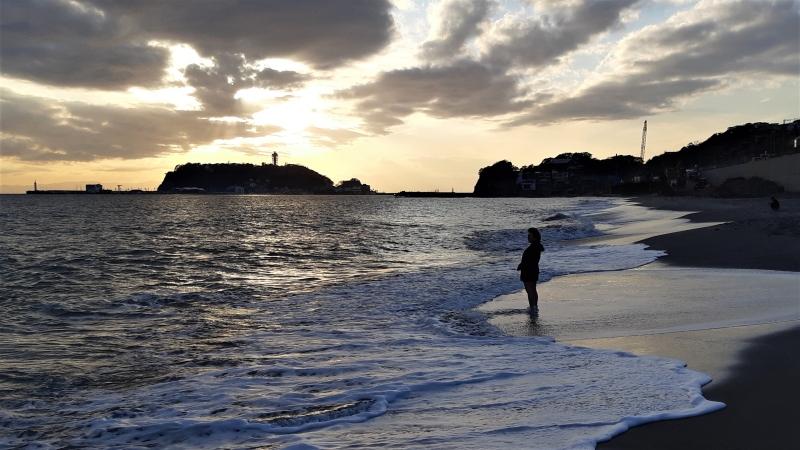 Sunset viewing Enoshima island