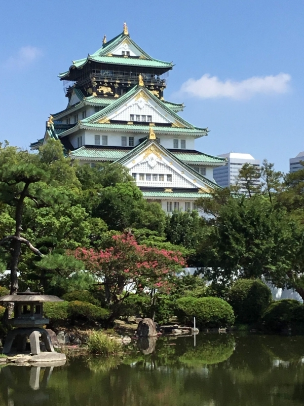 Osaka Castle: Originally established in the 16th Century by Hideyoshi Toyotomi  as an emblem of his power. It was destroyed by Tokugawa Shogunate and reconstructed in the 17th Century. The current one was built in 1931.