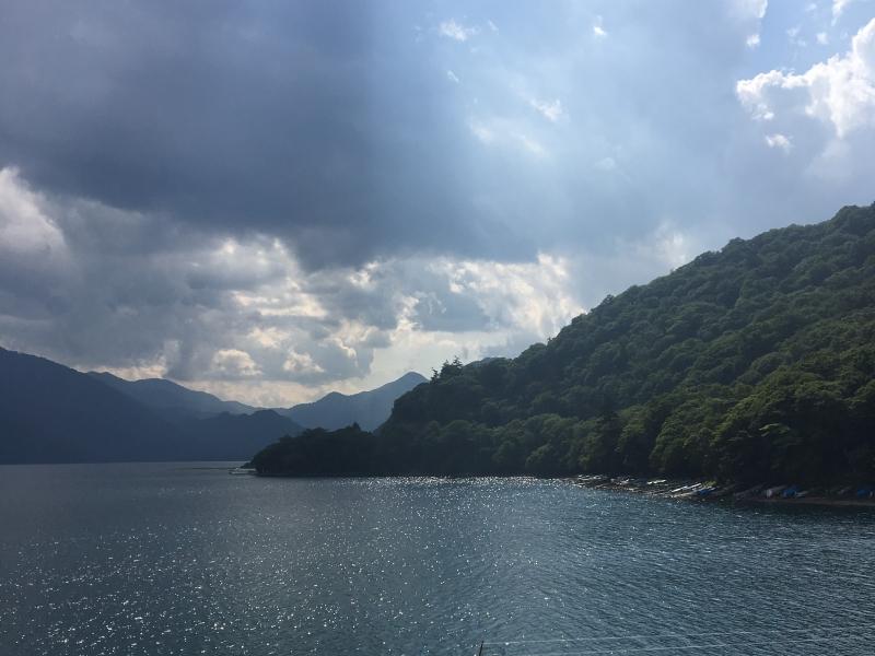 Lake Chuzenji: beautiful lake made by the volcanic eruption.