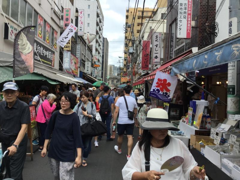 The original outer market stays at Tsukiji