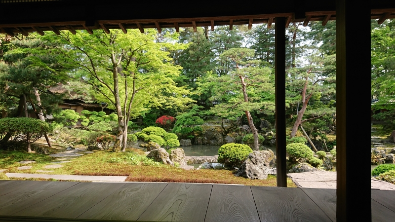 The Japanese garden of the Northern Culture Museum.