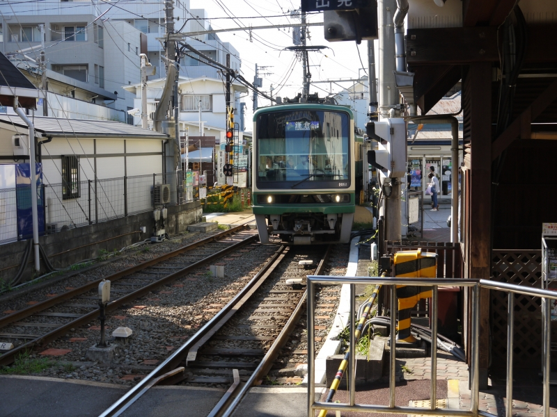 The very popular local train(Enoden)