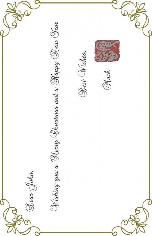 Christmas card with Japanese character seal. It's cool l!!!
